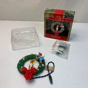 Hallmark Christmas Ornament 1990 Lighted Chris Mou